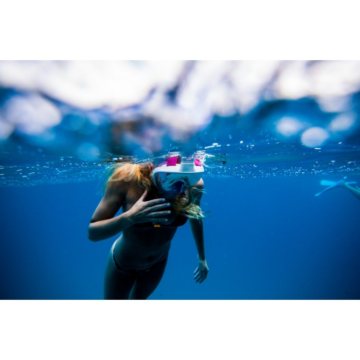 GOPRO Fit  Full-Faced Snorkeling Mask - Adult Size Pink