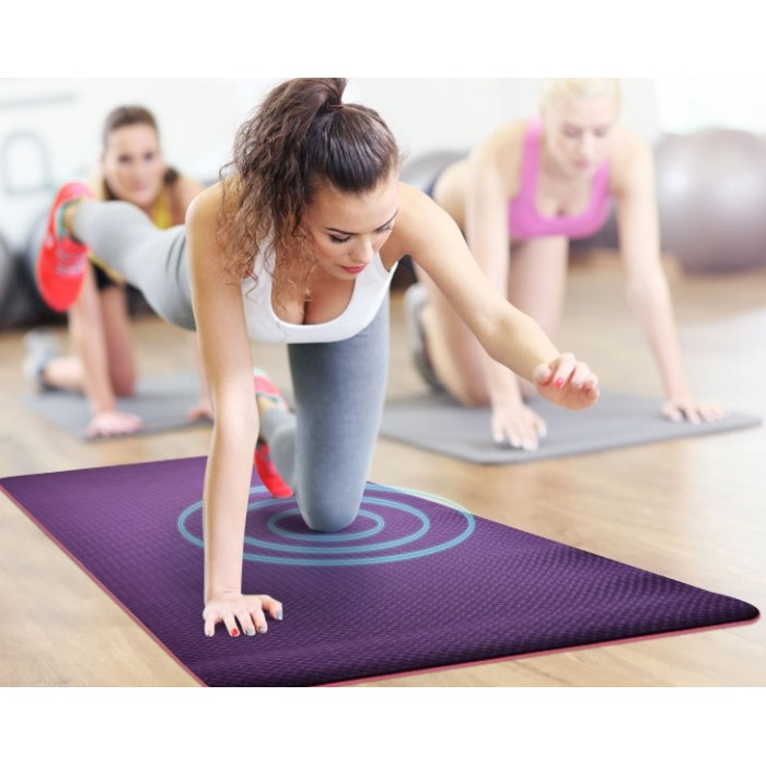 THERMO100 PREIMUM SERIES - ACTIN-96 DUAL SURFACE YOGA MAT / PURLE