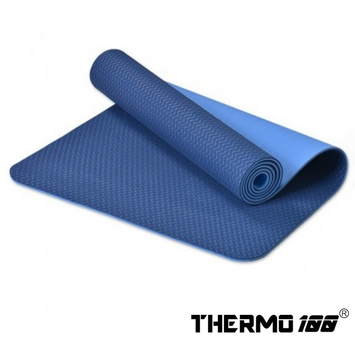 THERMO100 PREIMUM SERIES - ACTIN-96 DUAL SURFACE YOGA MAT / NAVY